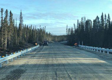 Les travaux de reconstruction de cette portion de la route selon un nouveau tracé ont débuté en avril 2019. Photo : ministère des Transports