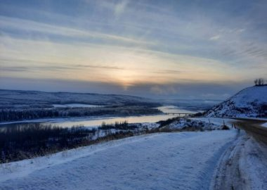 A view of the Peace River near the Alberta border. Photo by E. Strauch