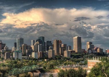 La vue d'Edmonton