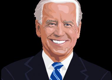 Dessin de Joe Biden sur fond blanc.