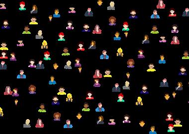 Réseau en toile montre une multitude de connections via les médias sociaux.