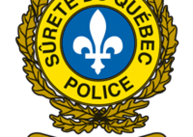 A photo of the Sûreté du Québec logo.
