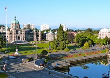 A photo of downtown Victoria.