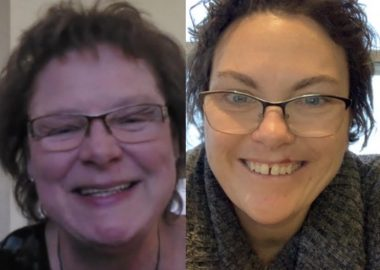 A side by side photo of photo of Joy Davies and Kim Hanson